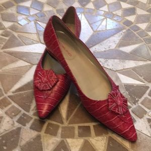 Bandolino Leather Pinky Red Flats